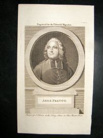 Abbe Prevot C1780 Antique Portrait Print